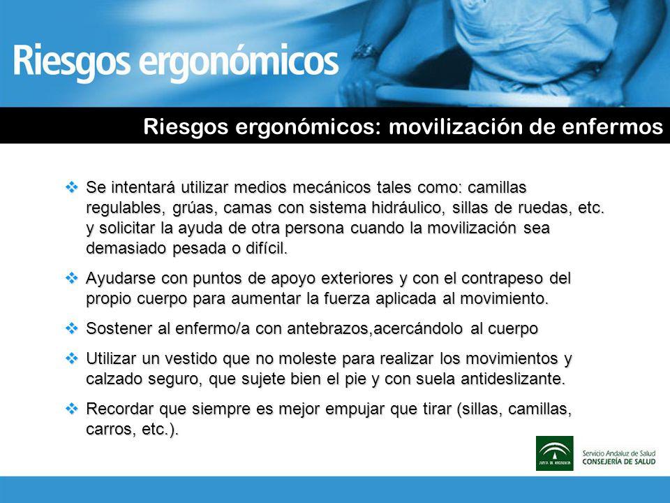 Riesgos ergonómicos: movilización de enfermos
