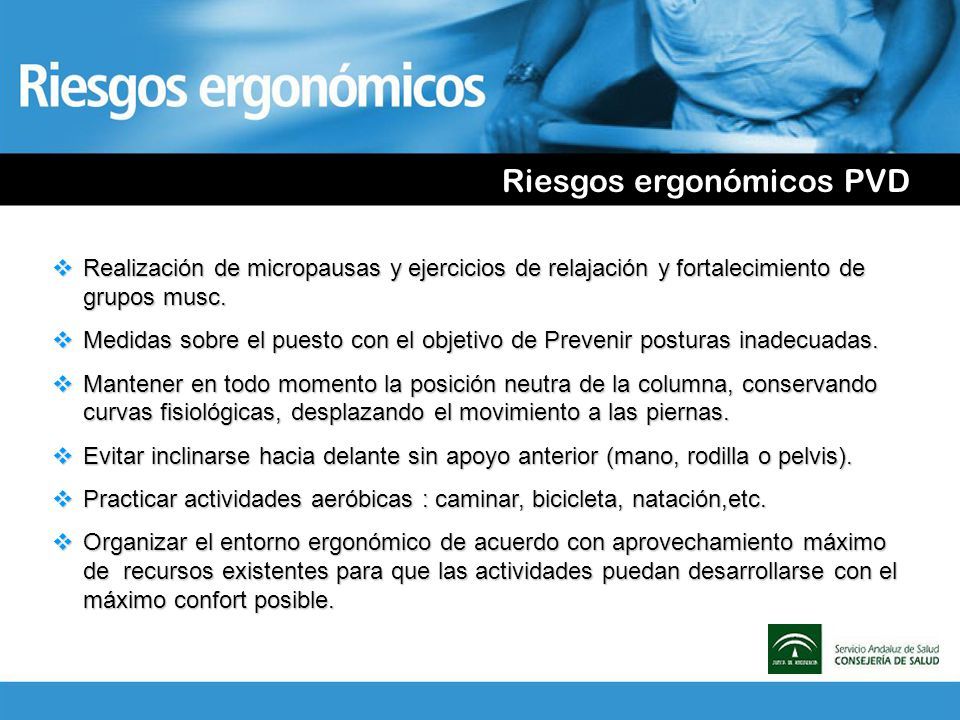 Riesgos ergonómicos PVD