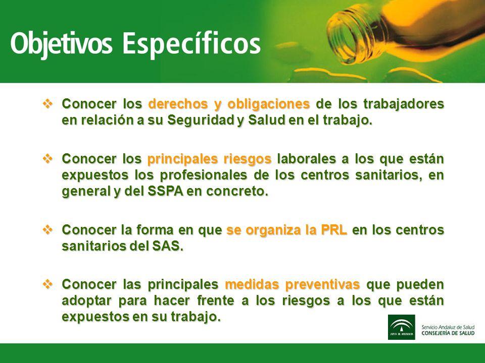 Conocer los derechos y obligaciones de los trabajadores en relación a su Seguridad y Salud en el trabajo.