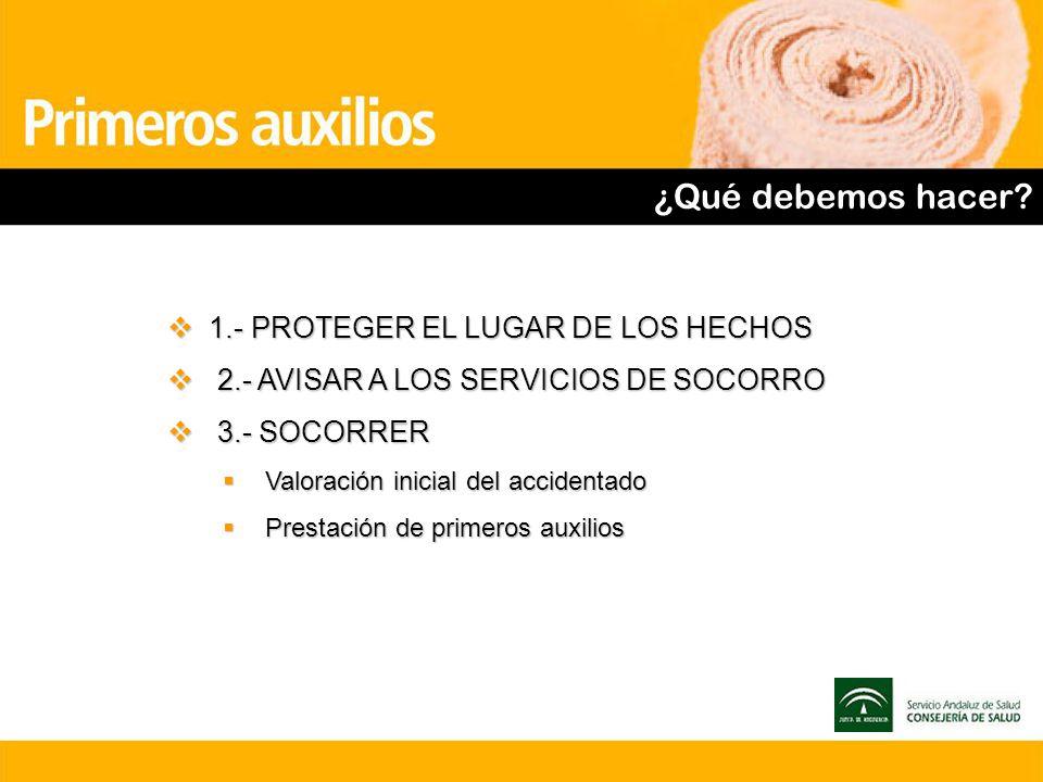 ¿Qué debemos hacer 1.- PROTEGER EL LUGAR DE LOS HECHOS
