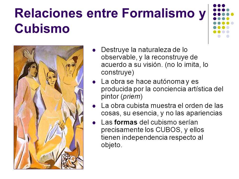 Relaciones entre Formalismo y Cubismo