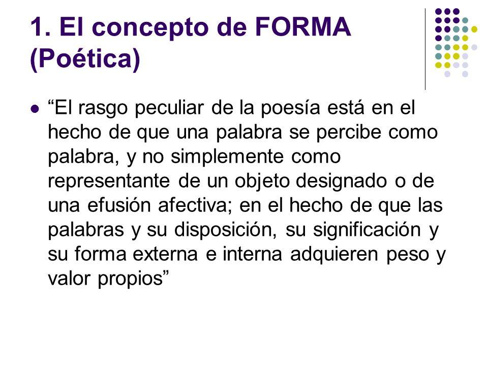 1. El concepto de FORMA (Poética)