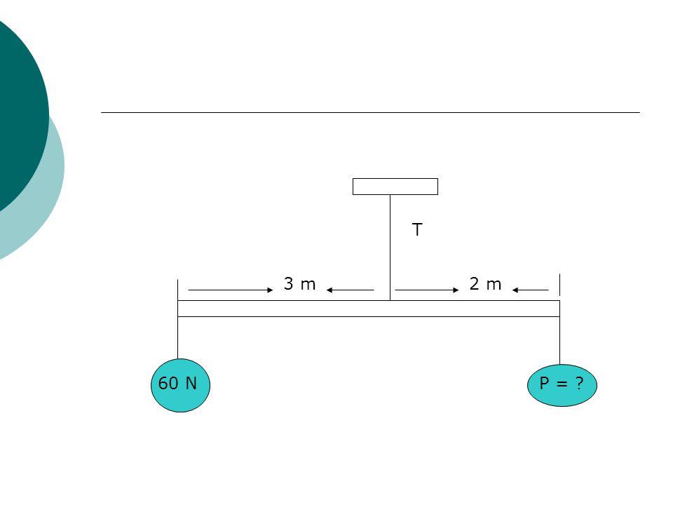 T 3 m 2 m 60 N P =