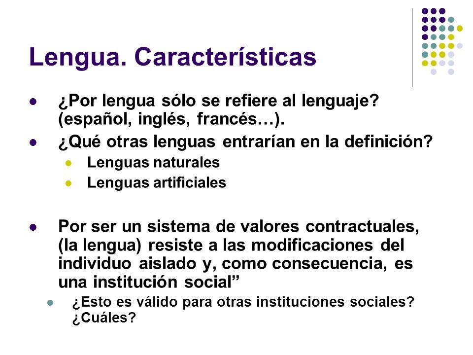 Lengua. Características