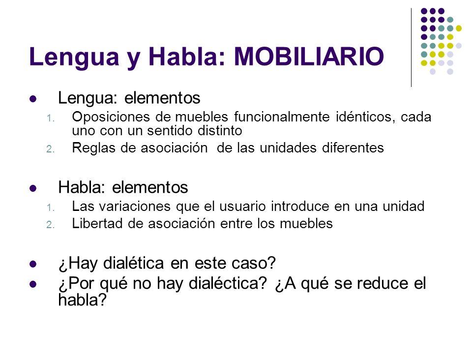 Lengua y Habla: MOBILIARIO