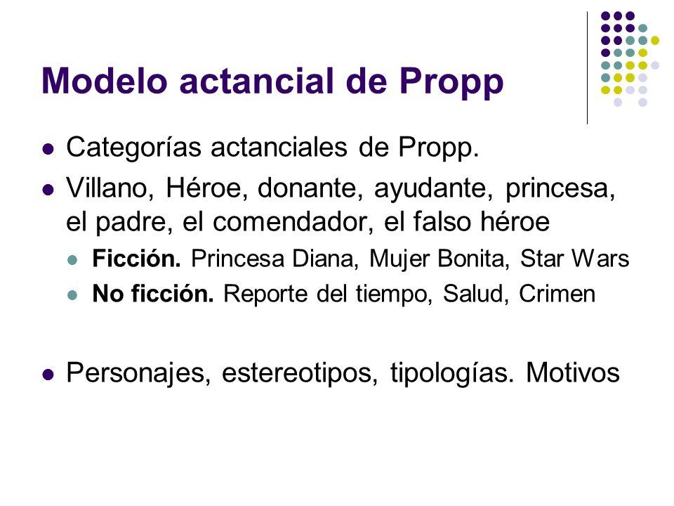 Modelo actancial de Propp