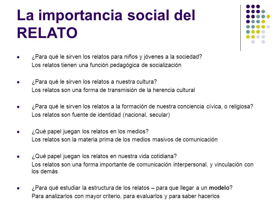 La importancia social del RELATO
