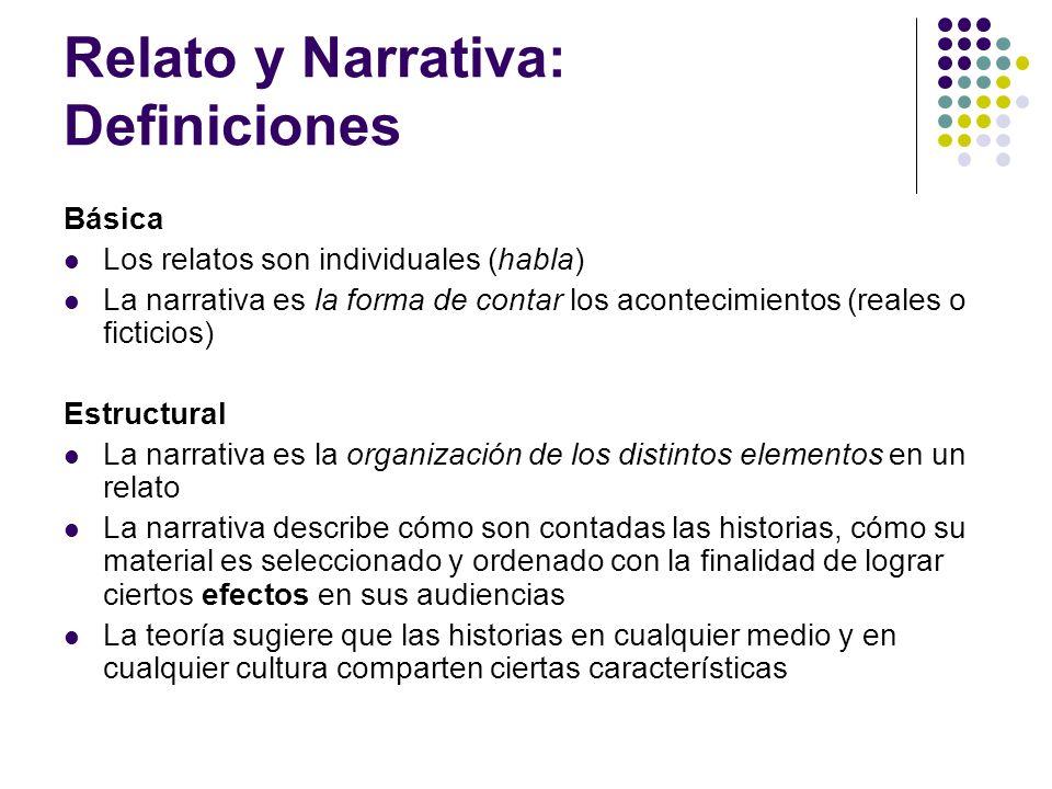 Relato y Narrativa: Definiciones