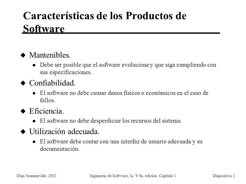 Características de los Productos de Software