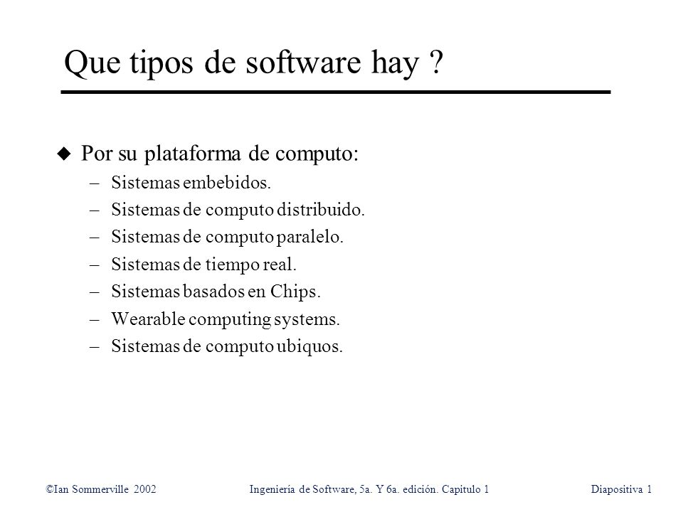 Que tipos de software hay