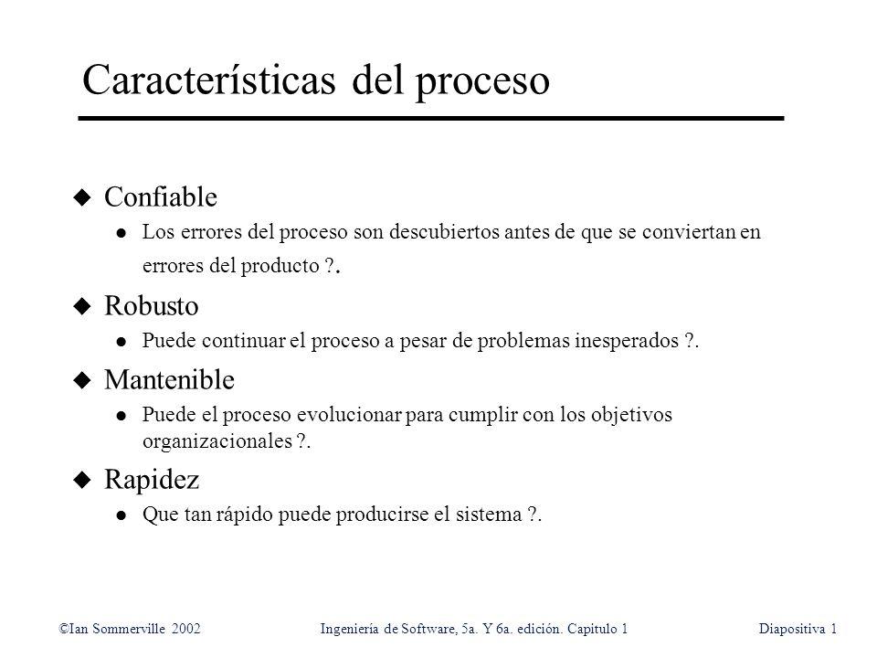 Características del proceso