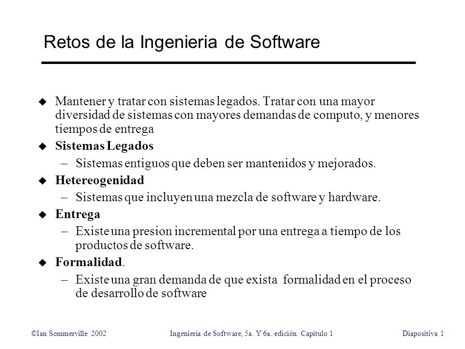 Retos de la Ingenieria de Software