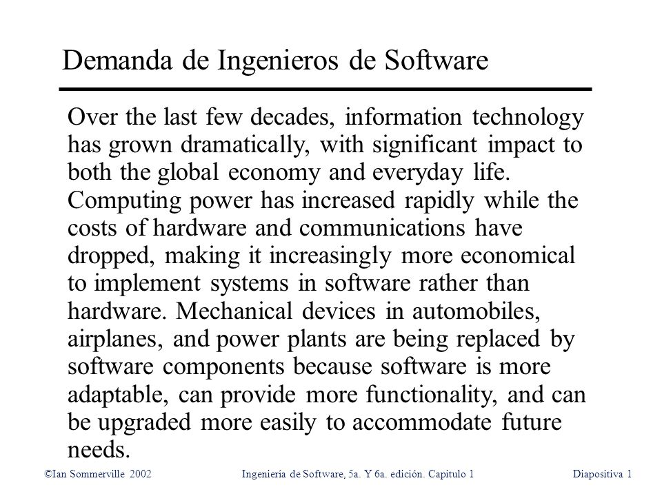 Demanda de Ingenieros de Software