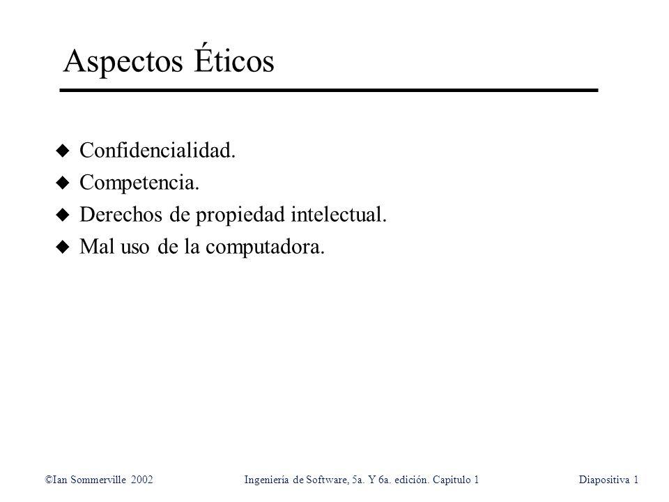 Aspectos Éticos Confidencialidad. Competencia.