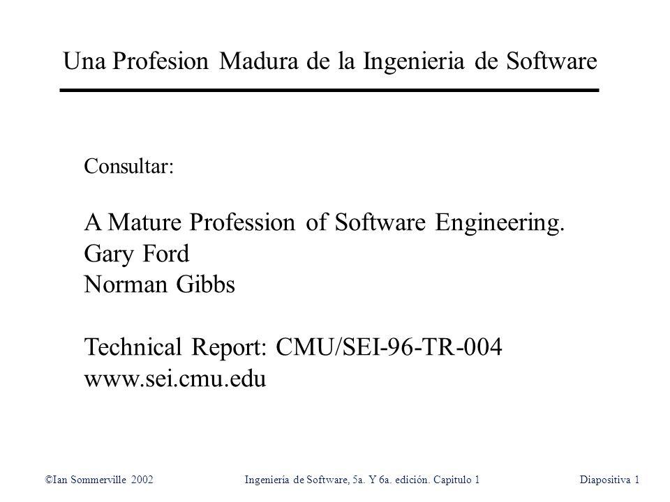 Una Profesion Madura de la Ingenieria de Software