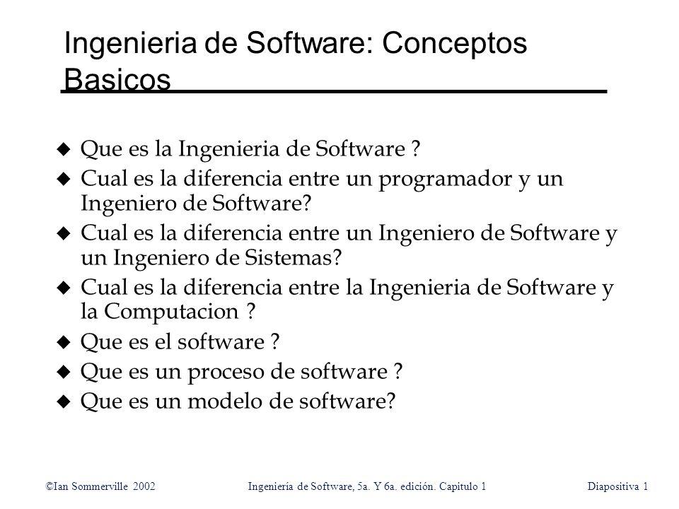 Ingenieria de Software: Conceptos Basicos