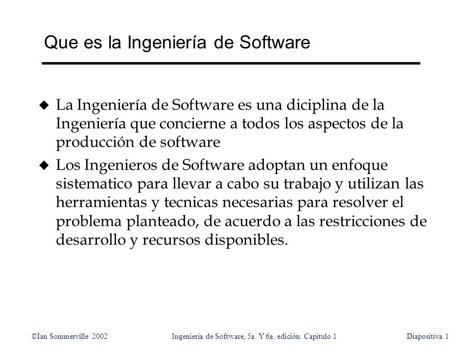 Que es la Ingeniería de Software