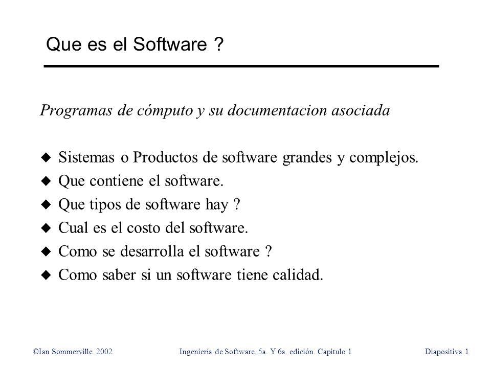 Que es el Software Programas de cómputo y su documentacion asociada