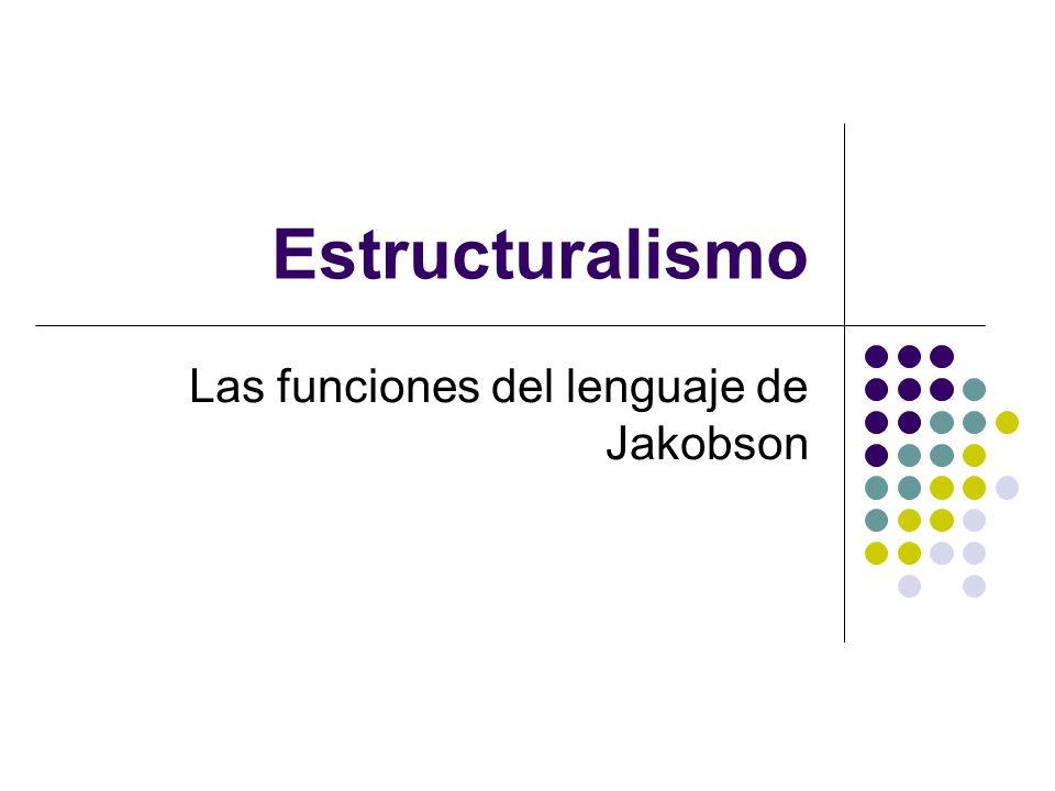 Las funciones del lenguaje de Jakobson