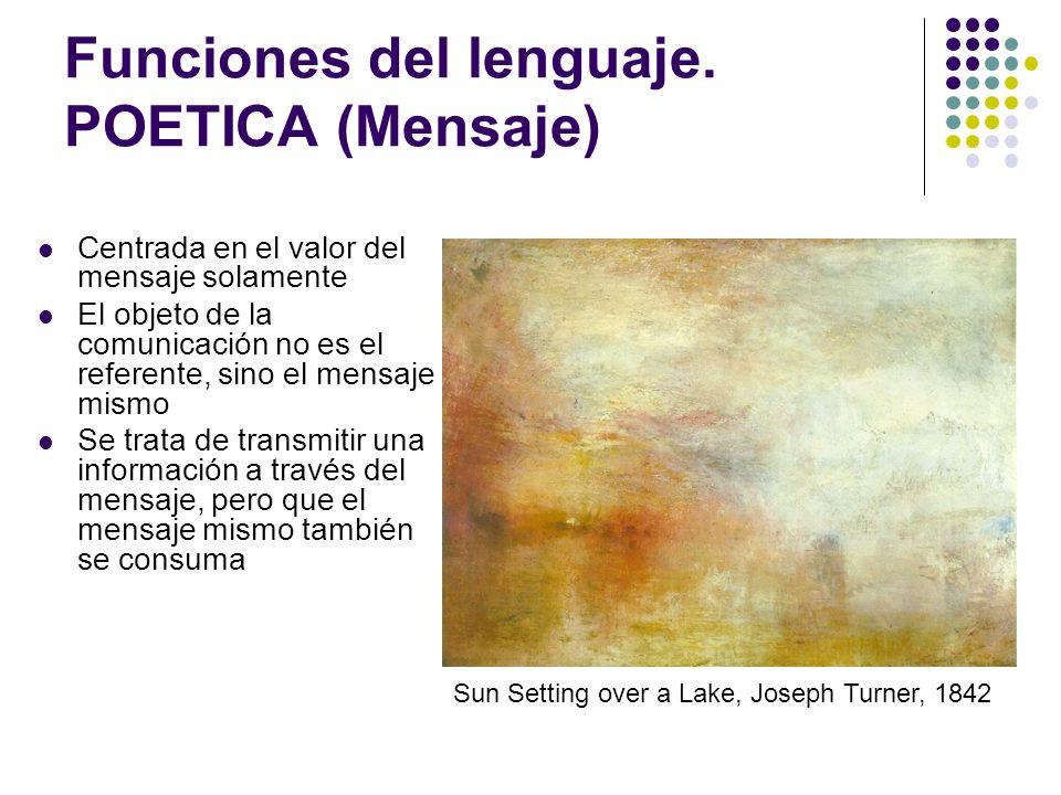 Funciones del lenguaje. POETICA (Mensaje)