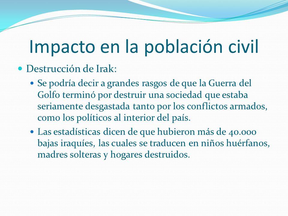 Impacto en la población civil