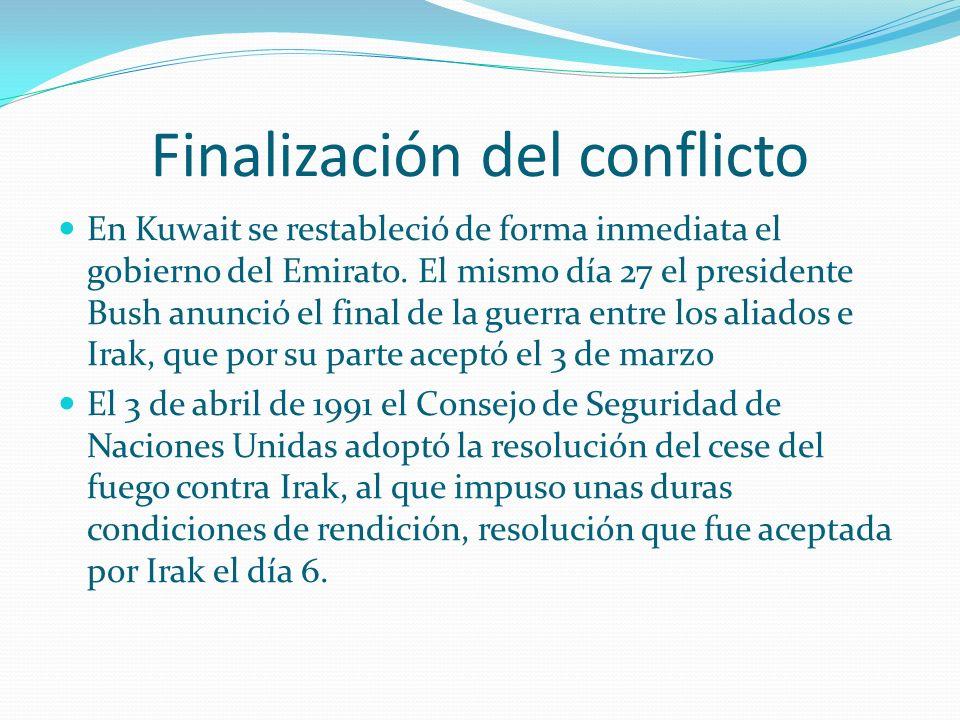 Finalización del conflicto
