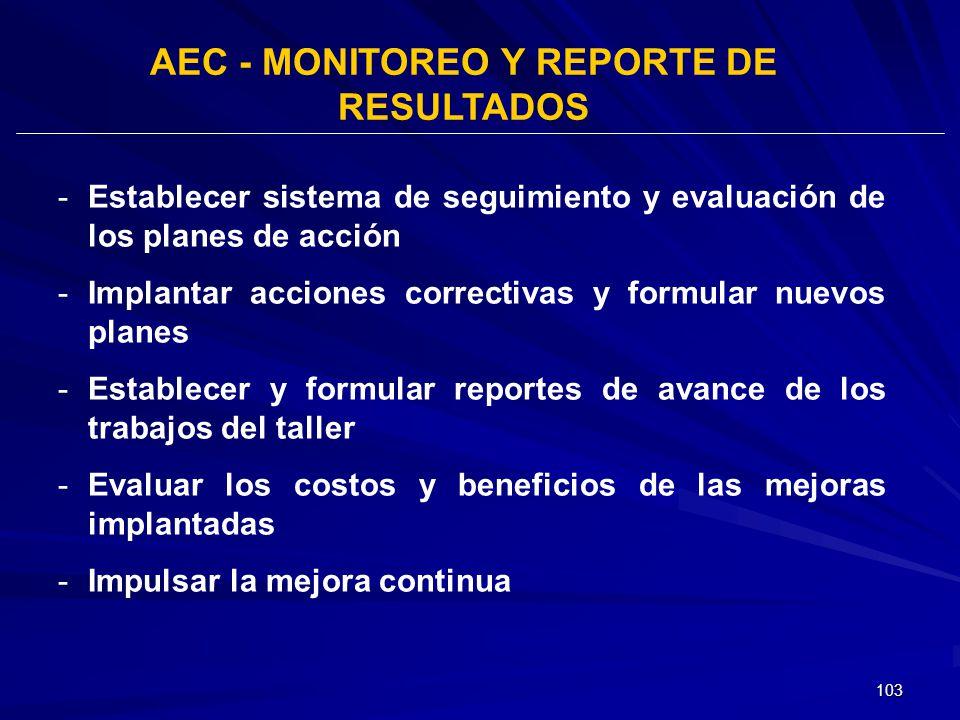 AEC - MONITOREO Y REPORTE DE RESULTADOS