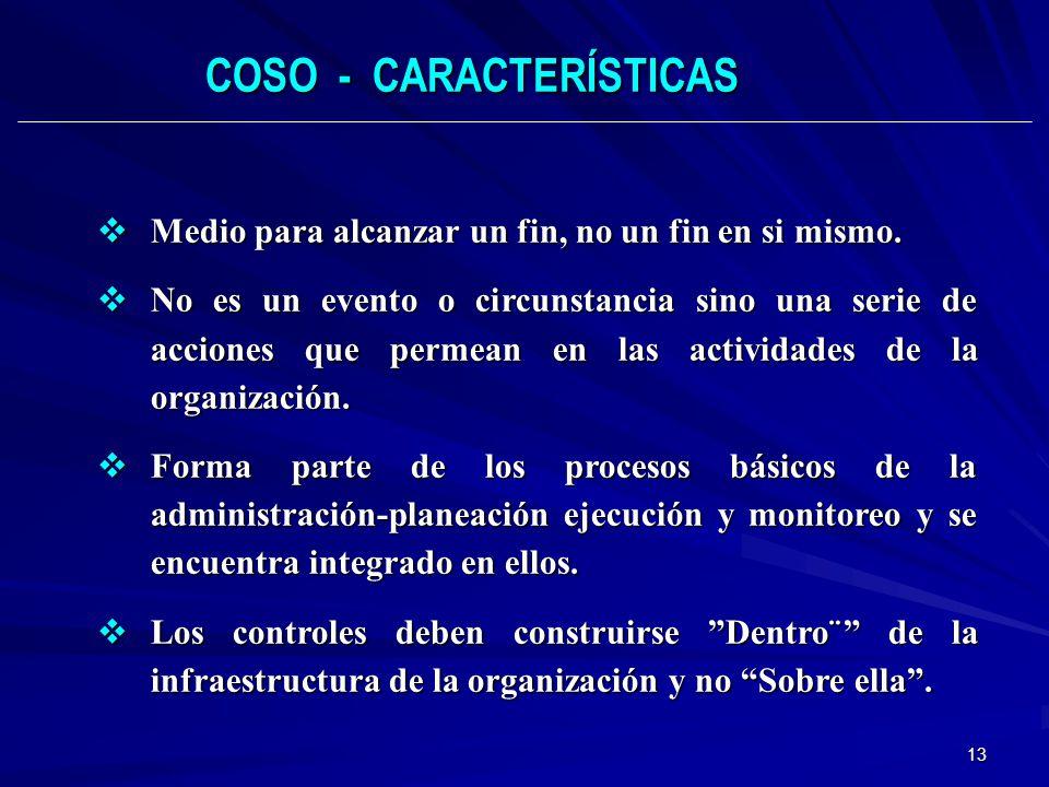 COSO - CARACTERÍSTICAS