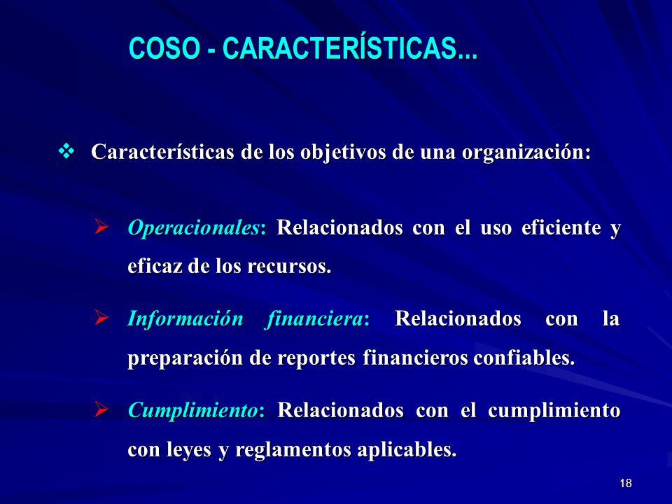 COSO - CARACTERÍSTICAS...
