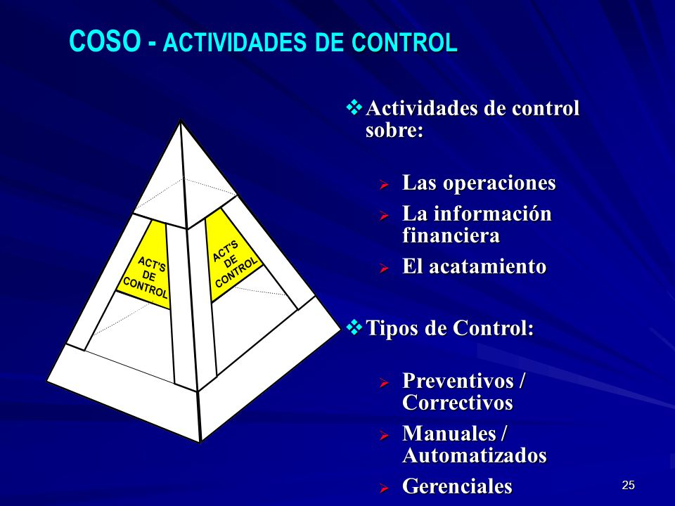 COSO - ACTIVIDADES DE CONTROL