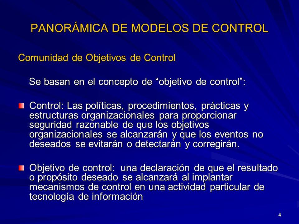 PANORÁMICA DE MODELOS DE CONTROL