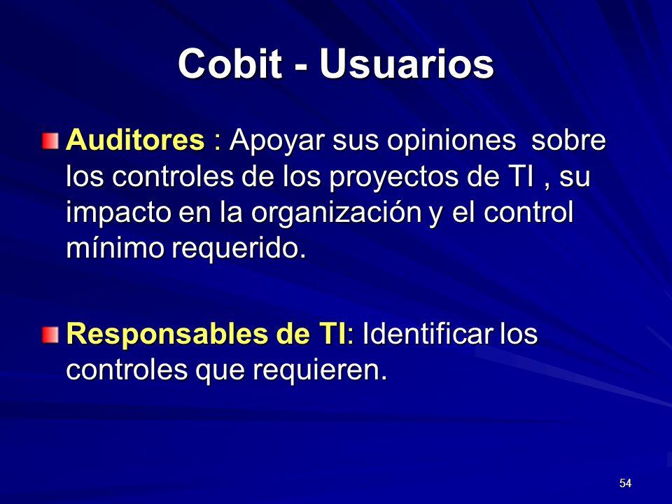 Cobit - Usuarios