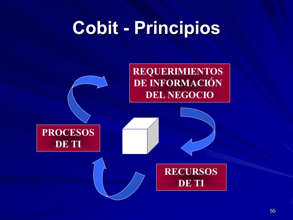 Cobit - Principios REQUERIMIENTOS DE INFORMACIÓN DEL NEGOCIO PROCESOS