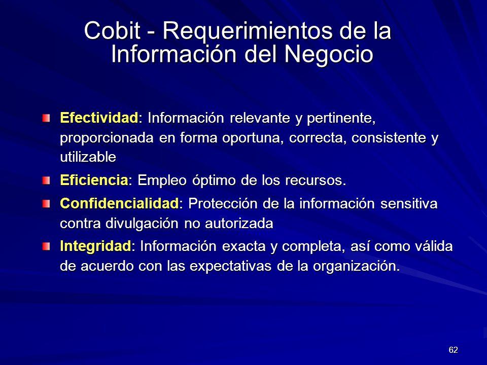 Cobit - Requerimientos de la Información del Negocio