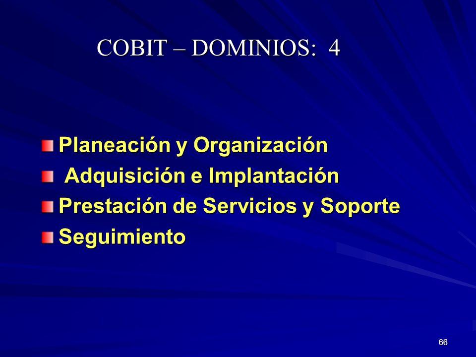 COBIT – DOMINIOS: 4 Planeación y Organización
