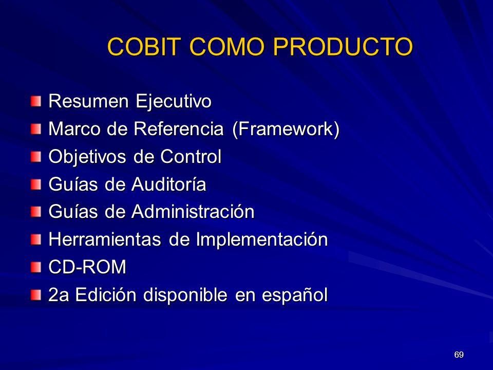 COBIT COMO PRODUCTO Resumen Ejecutivo Marco de Referencia (Framework)