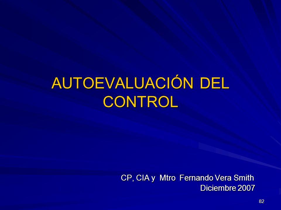AUTOEVALUACIÓN DEL CONTROL