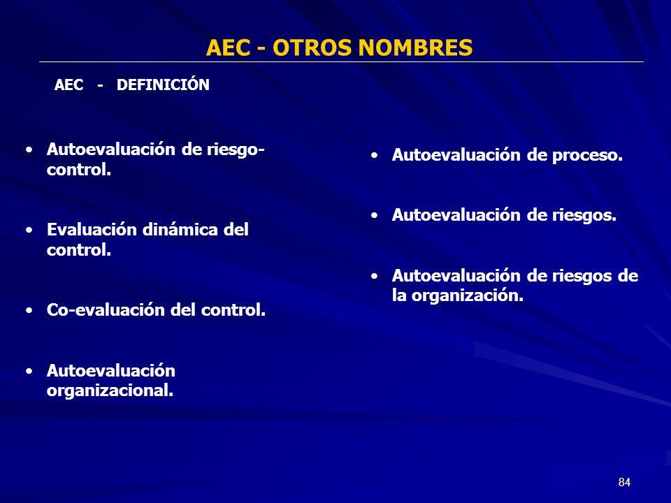 AEC - OTROS NOMBRES Autoevaluación de riesgo-control.