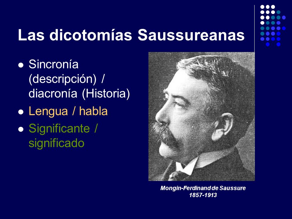 Las dicotomías Saussureanas