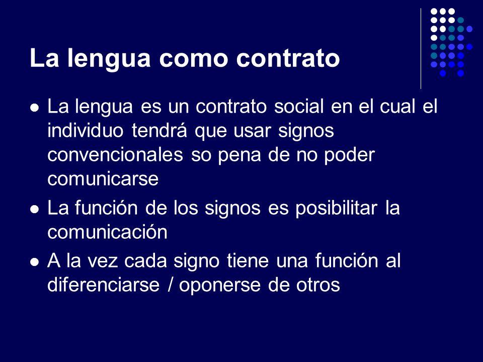 La lengua como contrato