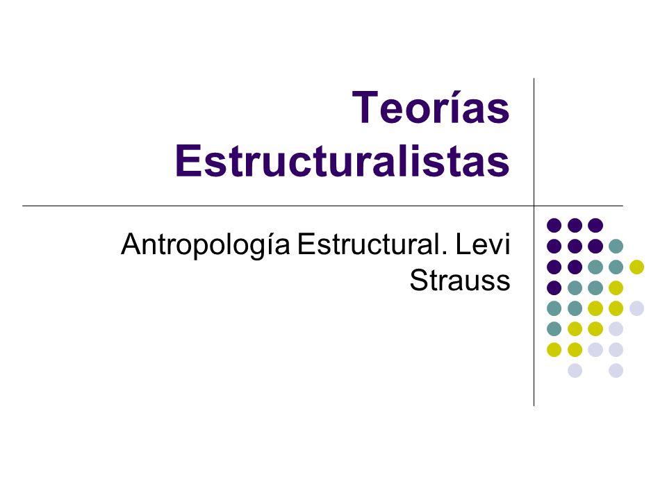 Teorías Estructuralistas