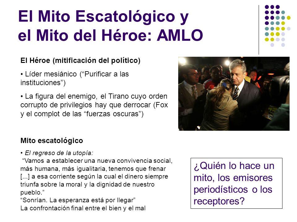 El Mito Escatológico y el Mito del Héroe: AMLO