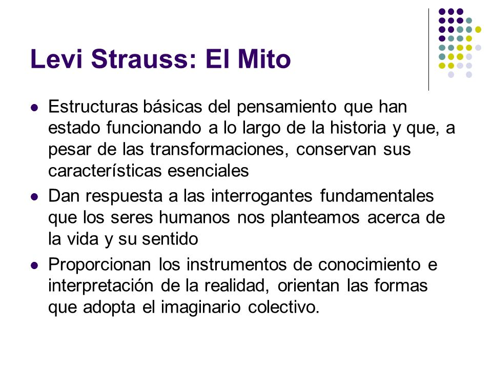 Levi Strauss: El Mito