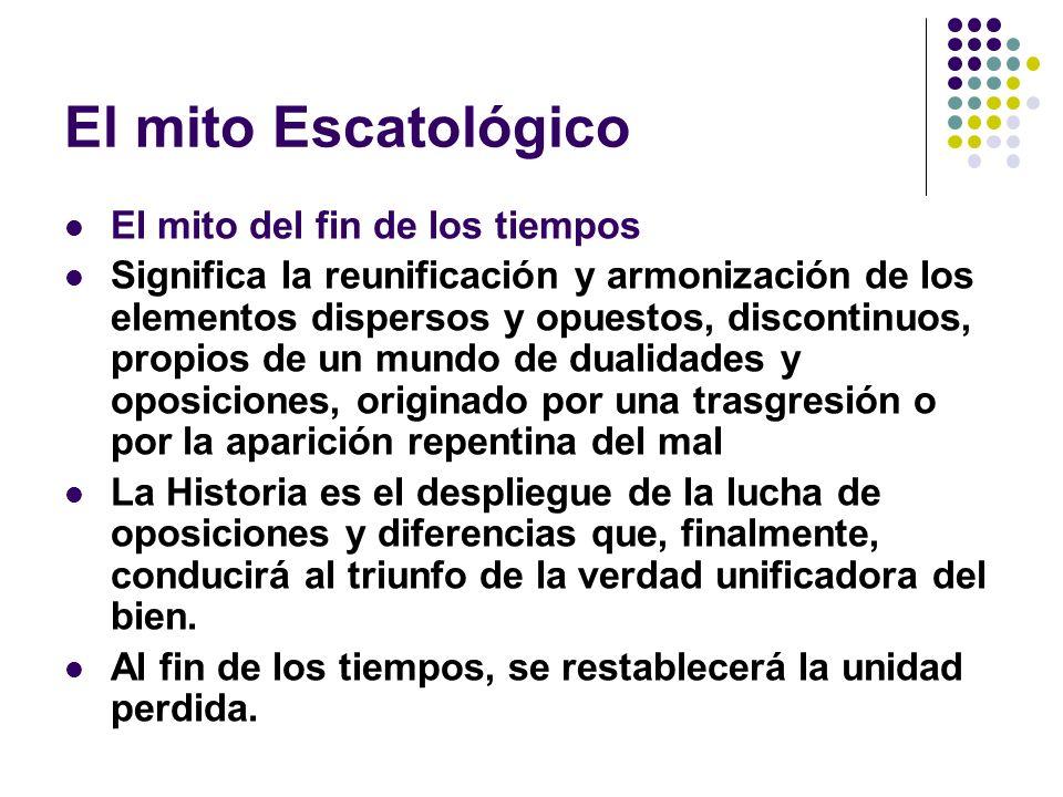 El mito Escatológico El mito del fin de los tiempos