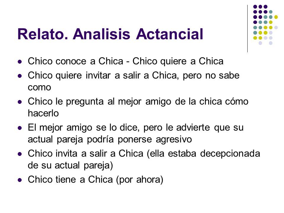 Relato. Analisis Actancial