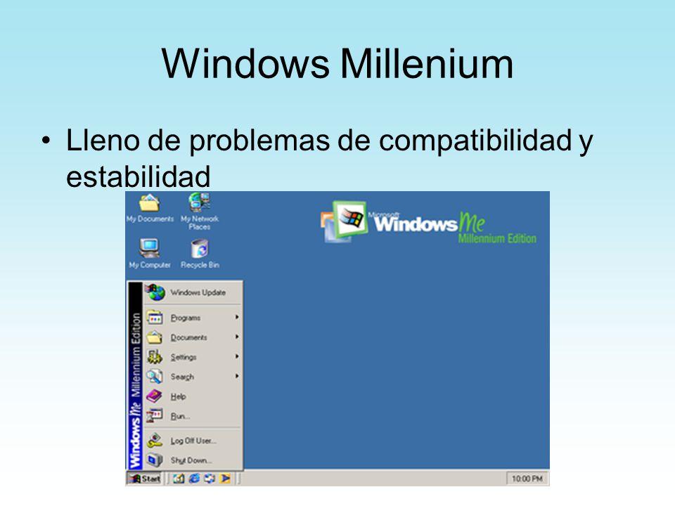 Windows Millenium Lleno de problemas de compatibilidad y estabilidad