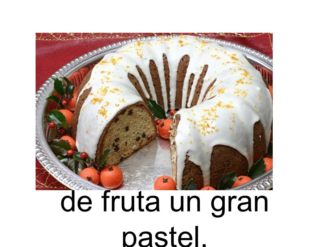 de fruta un gran pastel.