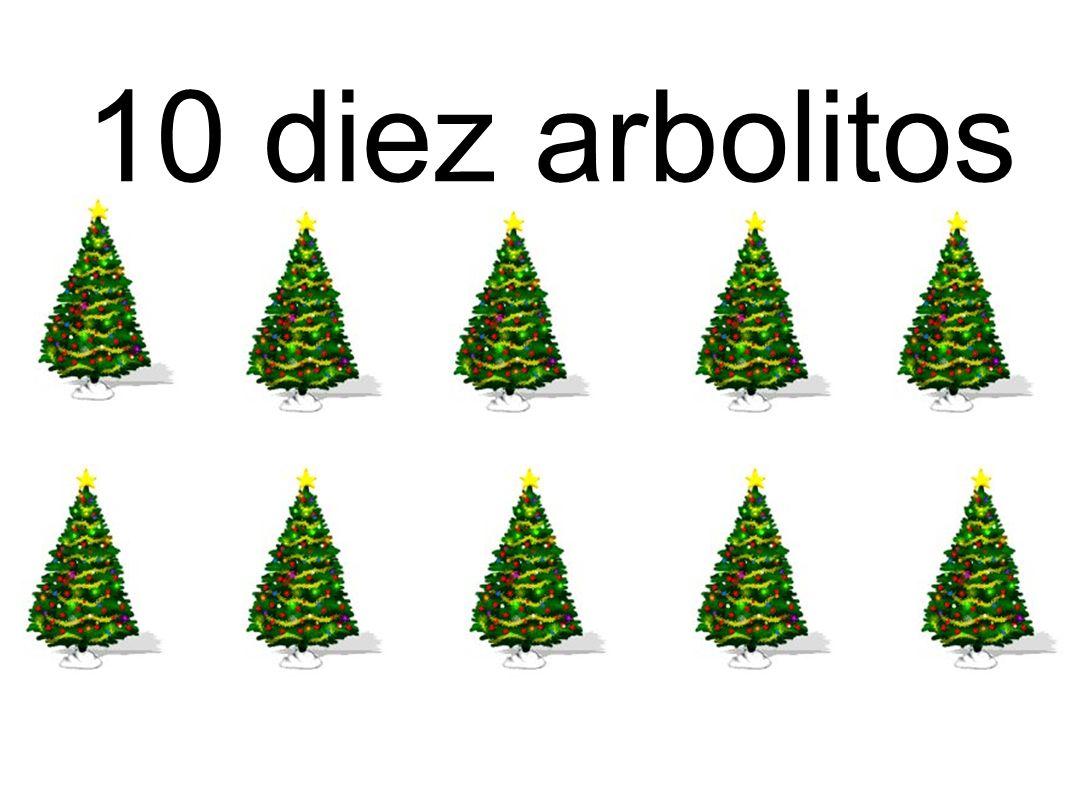 10 diez arbolitos