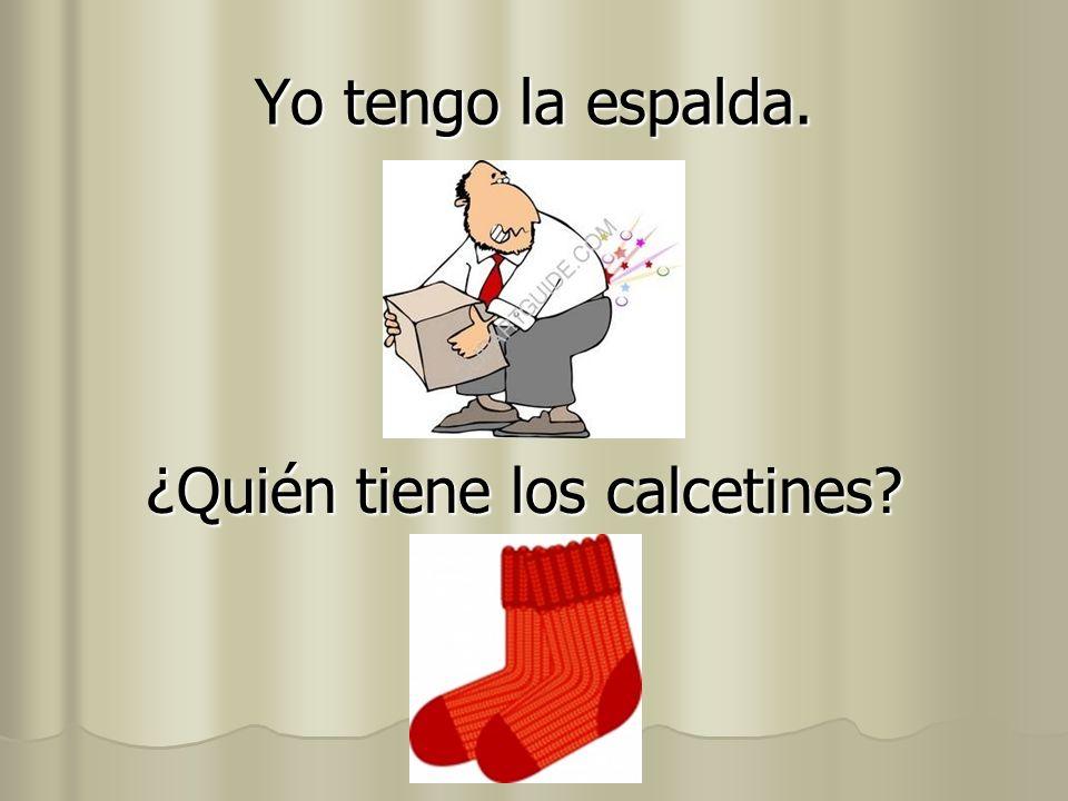 ¿Quién tiene los calcetines