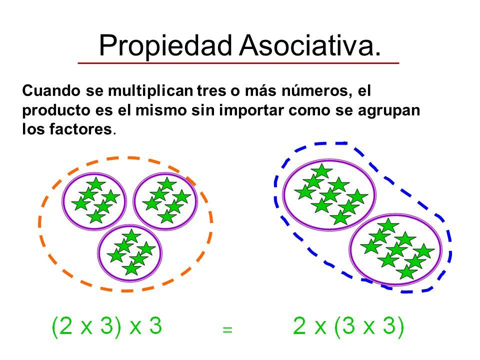 Propiedad Asociativa. =